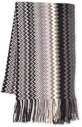 Missoni Color Block Fringe Scarf