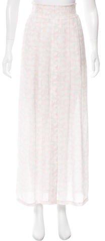 A.L.C.A.L.C. Printed Silk Maxi Skirt w/ Tags