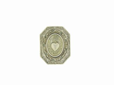 Virgins, Saints & Angels Vintage Collection: Rectangle Heart Ring in Silver | Pacific Opal