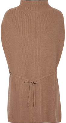 Theory - Lotunia Cashmere Sweater - Light brown $395 thestylecure.com