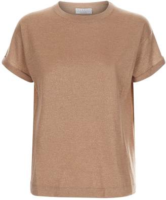 Brunello Cucinelli Lurex Knit T-Shirt