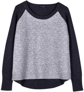 Cashmerism Arrow-Knit Slouchy Pullover