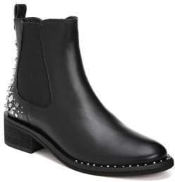 Sam Edelman Dover Slip-On Embellished Leather Boots