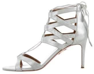 Aquazzura Beverly Hills Lace-Up Sandals