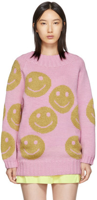 Marc Jacobs Pink The Redux Crewneck Sweater