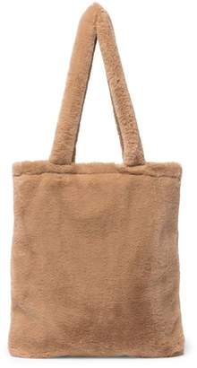 Do Everything in Love Faux Fur Tote