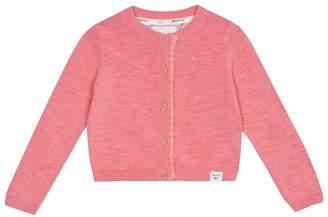 Mantaray Girls' Pink Scalloped Cardigan