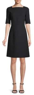 Lafayette 148 New York JoJo Wool Elbow Sleeve Dress