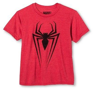 Spider-Man Marvel Boys' Call Sign Spider-1 Graphic T-Shirt Red