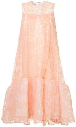 Huishan Zhang embroidered flared dress