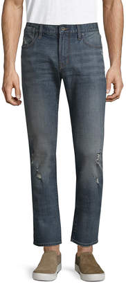 John Varvatos Solid Bowery Straight Leg Pant