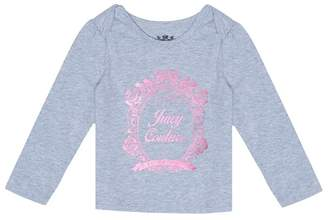 Juicy Couture Floral Mirror Cameo Long Sleeve Tee for Baby