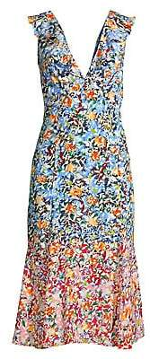 Saloni Women's Holly Floral Silk Dress