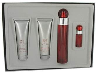 Perry Ellis 360 Red by for Men - Gift Set - 3.4 oz Eau De Toilette Spray + 3 oz After Shave Balm + 3 oz Shower Gel +.25 oz Eau De Toilette Spray