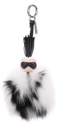 Fendi Super Karlito Fur Bag Charm