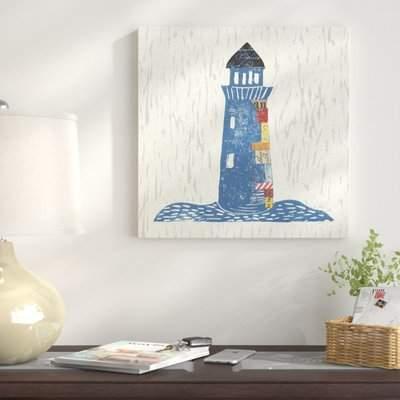 Wayfair 'Nautical Collage II on Linen' Graphic Art Print on Canvas