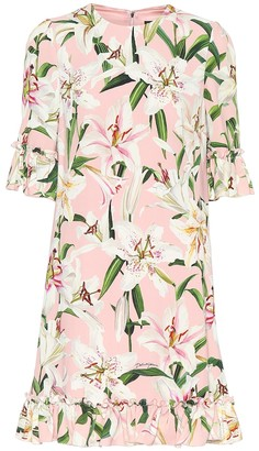 Dolce & Gabbana Floral crepe de chine dress