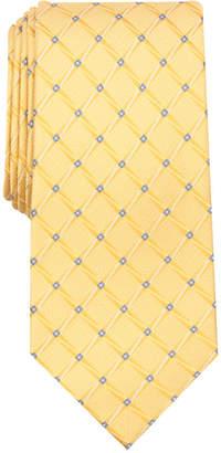 Perry Ellis Men Bastille Grid Silk Tie