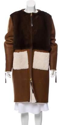 Oscar de la Renta Pre Spring 2016 Long Shearling Coat w/ Tags
