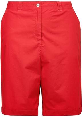 Dorothy Perkins Womens **Dp Curve Red Poplin Knee Shorts