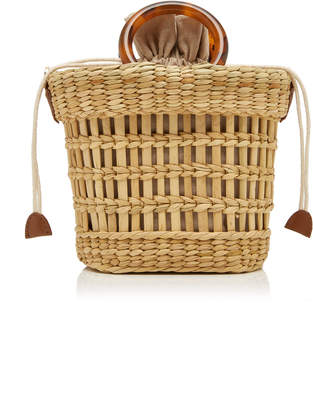 Poolside Mak Straw Top Handle Bag