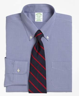 Brooks Brothers Milano Slim-Fit Dress Shirt, Non-Iron Houndstooth