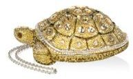 Judith Leiber Crystal Embellished Turtle Clutch Bag $4,395 thestylecure.com