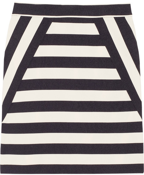 Marc by Marc Jacobs Scooter striped satin-twill skirt