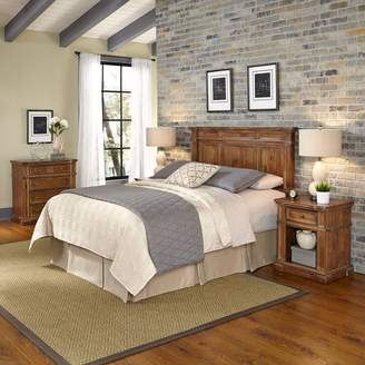 Americana Home Styles Vintage 4-piece Headboard, Night Stand & Chest Set