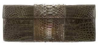 Nancy Gonzalez Crocodile & Python Clutch