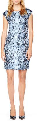 MICHAEL Michael Kors Studded Python-Print Dress