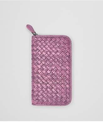 Bottega Veneta Twilight Intrecciato Ayers Zip-Around Wallet