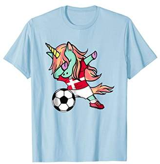 54422eaa88a Dabbing Unicorn Soccer Denmark Jersey Shirt Danish Football