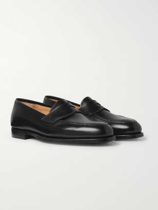 George Cleverley Bradley 2 Leather Penny Loafers - Men - Black