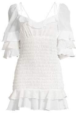 For Love & Lemons Bora Bora Ruffled Mini Dress