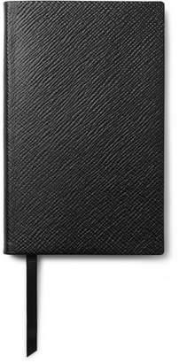 Smythson Panama Cross-grain Leather Notebook - Black