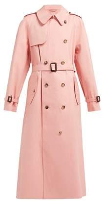 Maison Margiela X Mackintosh Cotton Gabardine Trench Coat - Womens - Pink