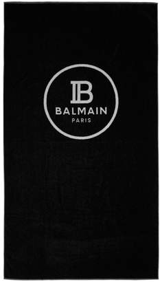 Balmain (バルマン) - Balmain ブラック ロゴ タオル