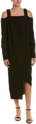 Celine Silk-Blend Distressed Maxi Dress