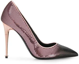 Tom Ford sequinned contrast toe pumps