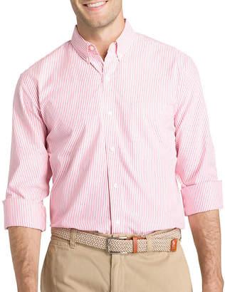 Izod Long Sleeve Stripe Button-Front Shirt