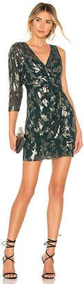 BCBGMAXAZRIA Asymmetric Faux Wrap Dress