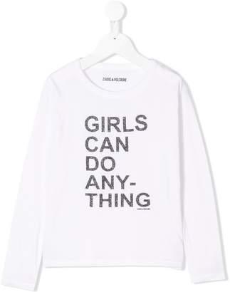 Zadig & Voltaire Kids Amber slogan T-shirt