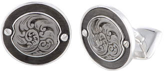 Stephen Webster Silver Mother-Of-Pearl Cufflinks