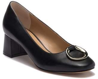 Tahari Mavis Leather Block Heel Pump
