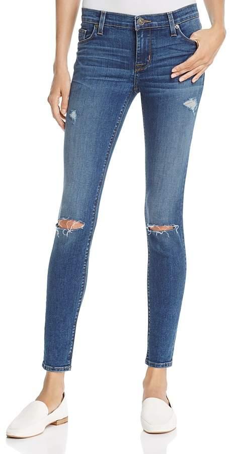 Hudson Nico Distressed Skinny Jeans in Umbrage - 100% Exclusive