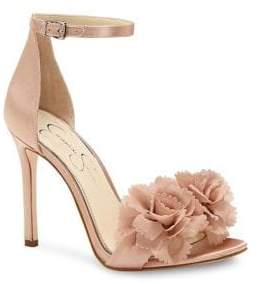 Jessica Simpson Jeena Satin Ankle-Strap Sandals