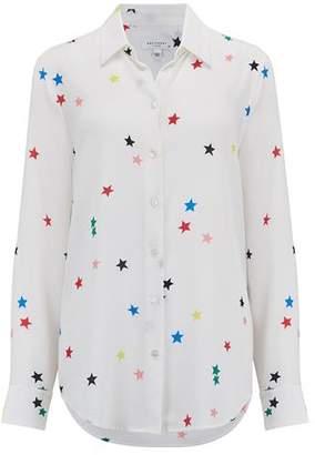 Equipment Essential Shirt in Bright White Multi Stars