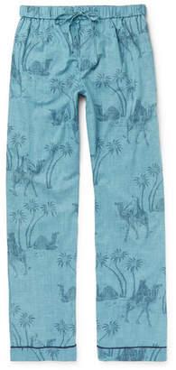 Desmond & Dempsey Printed Cotton Pyjama Trousers