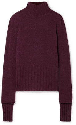 Ann Demeulemeester Alpaca-blend Turtleneck Sweater - Burgundy